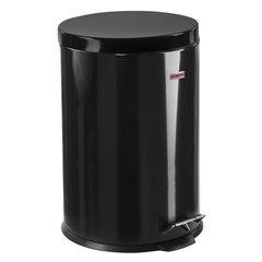 """Ведро-контейнер для мусора (урна) с педалью LAIMA """"Classic"""", 20 л, черное, глянцевое, металл, со съемным внутренним ведром, 604945"""