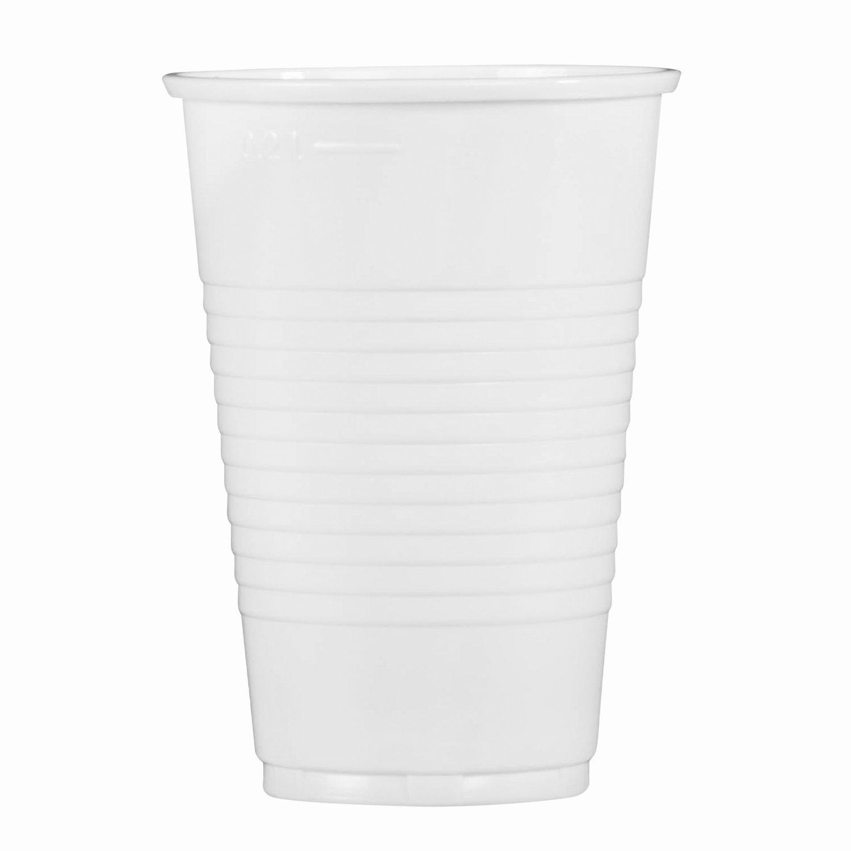 """Одноразовые стаканы 200 мл, КОМПЛЕКТ 100 шт., пластиковые, """"ЭКОНОМ"""", белые, ПП, СТИРОЛПЛАСТ"""