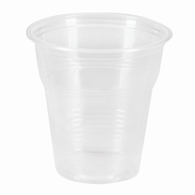 Одноразовые стаканы 100 мл, КОМПЛЕКТ 100 шт., пластиковые, прозрачные, ПП, холодное/горячее, СТИРОЛПЛАСТ