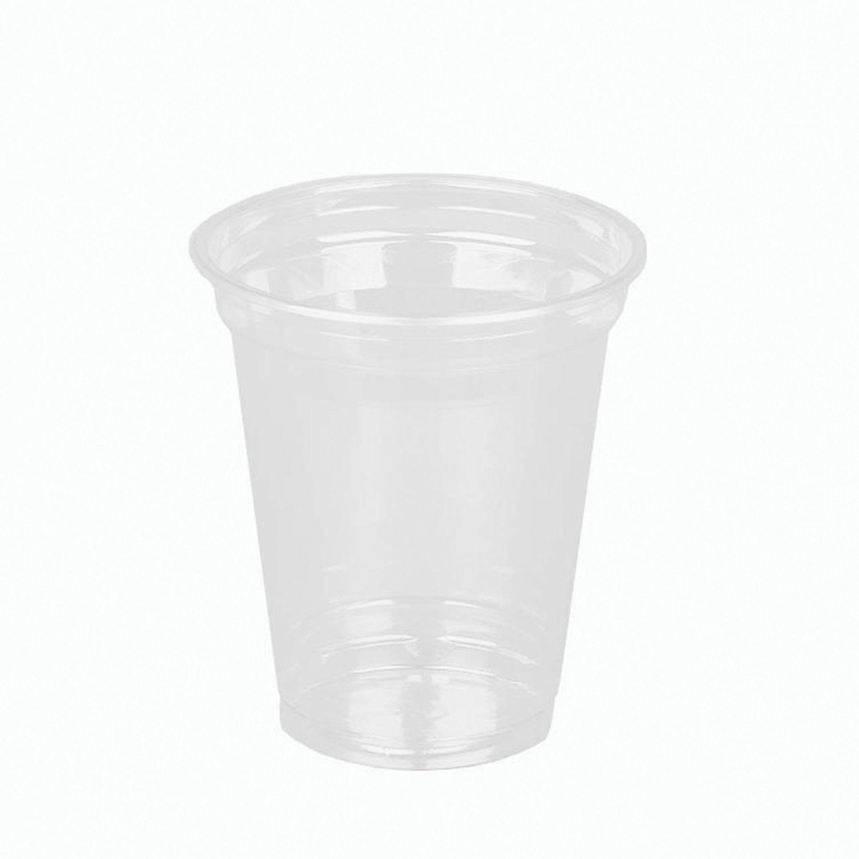 """Одноразовые стаканы 300 мл, КОМПЛЕКТ 50 шт, прозрачные, """"КРИСТАЛЛ"""", ПЭТ, холодное/десерты, СТИРОЛПЛАСТ"""