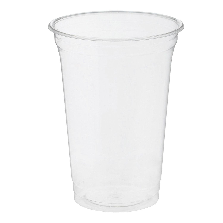 """Одноразовые стаканы 400 мл, КОМПЛЕКТ 50 шт, прозрачные, """"КРИСТАЛЛ"""", ПЭТ, холодное/десерты, СТИРОЛПЛАСТ"""