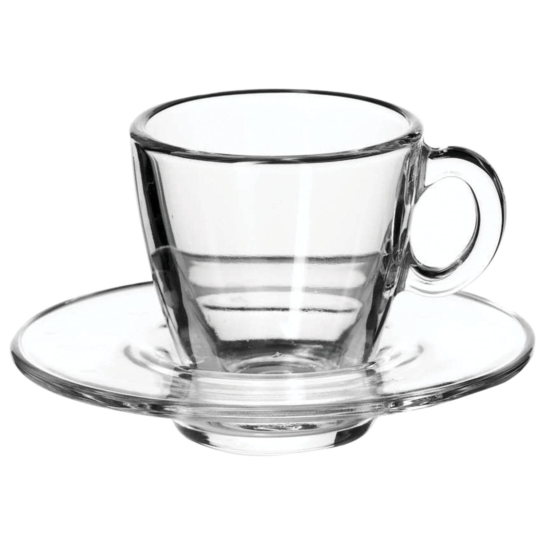 """Набор кофейный на 6 персон (6 чашек объемом 72 мл, 6 блюдец), стекло, """"Aqua"""", PASABAHCE, 95756"""