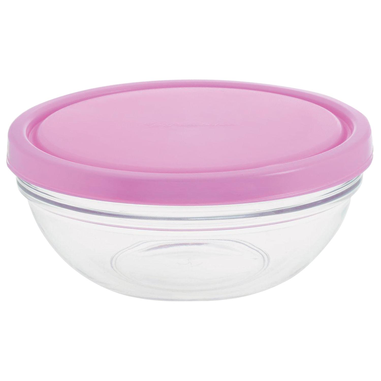 "Набор салатников, 2 шт., объем 1500 мл, диаметр 200 мм, пурпурные крышки, стекло, ""Chef`s"", PASABAHCE, 53573"