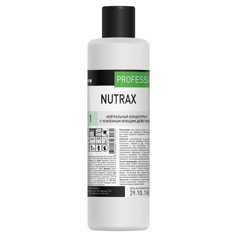 Средство моющее универсальное 1 л, PRO-BRITE NUTRAX, нейтральное, низкопенное, концентрат