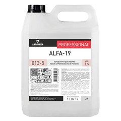 Средство для уборки после строительства 5 л, PRO-BRITE ALFA-19, кислотное, концентрат