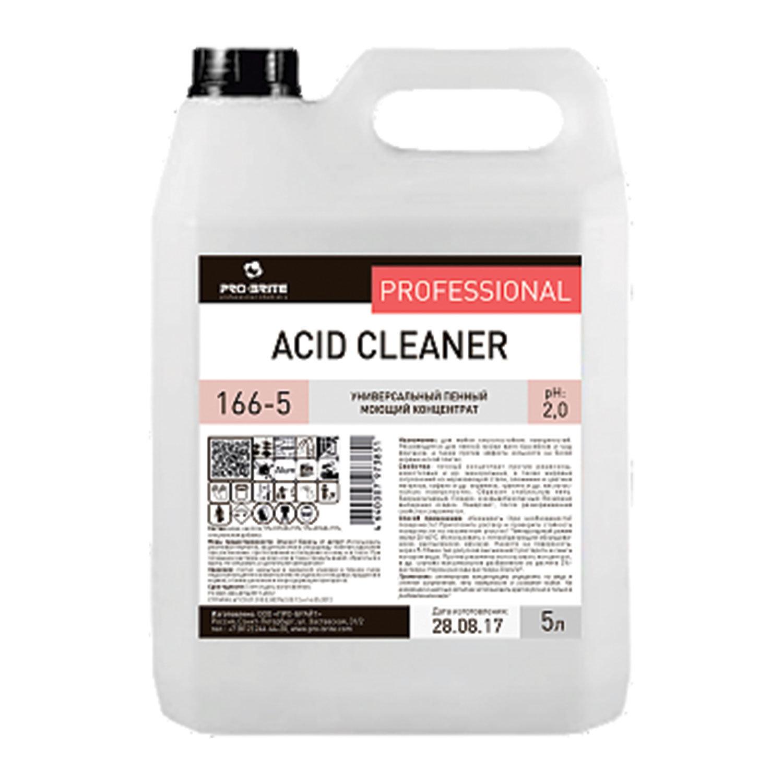 Средство моющее универсальное 5 л, PRO-BRITE ACID CLEANER, кислотное, пенное, концентрат