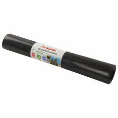 Мешки для мусора 240 л, черные, в рулоне 10 шт., прочные, ПВД 50 мкм, 90х140 см, LAIMA, 605337