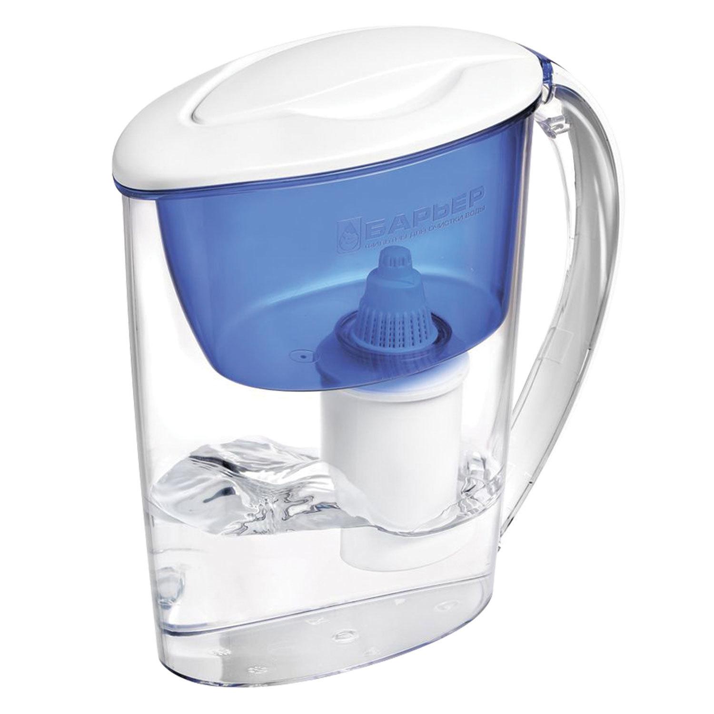 """Кувшин-фильтр для очистки воды БАРЬЕР """"Экстра"""", 2,5 л, со сменной кассетой, индиго"""