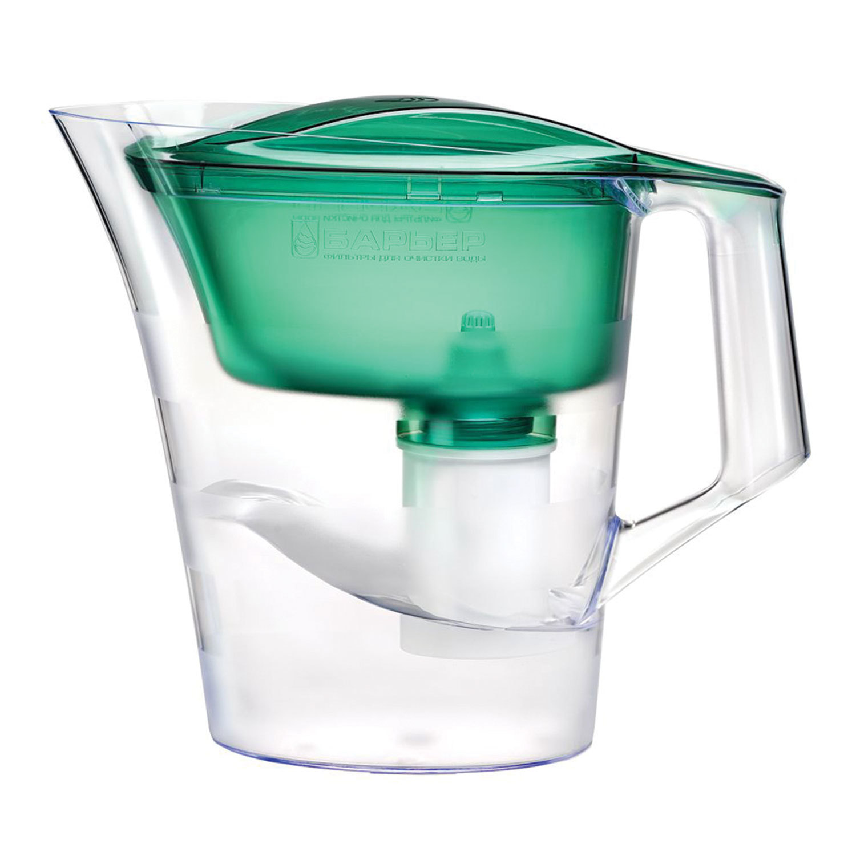 """Кувшин-фильтр для очистки воды БАРЬЕР """"Твист"""", 4 л, со сменной кассетой, зеленый"""