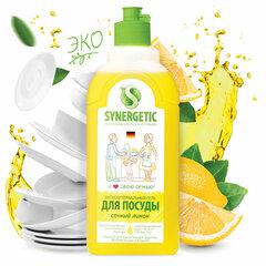 """Средство для мытья посуды антибактериальное 500 мл SYNERGETIC """"Лимон"""""""