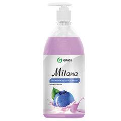 """Мыло-крем жидкое 1 л GRASS MILANA """"Черника в йогурте"""", дозатор"""
