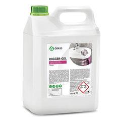 Средство для прочистки канализационных труб 5,3 кг GRASS DIGGER-GEL, гель, щелочное