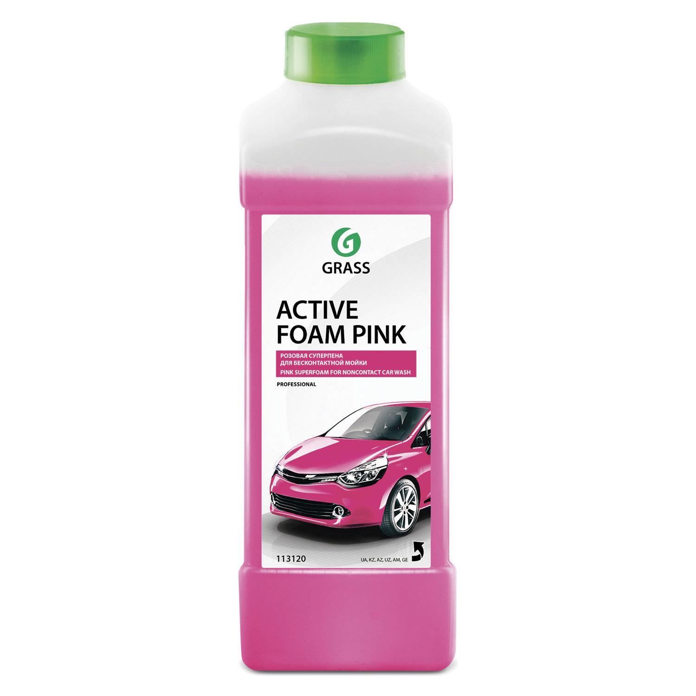"""Шампунь автомобильный для автоматической и ручной мойки 1 л GRASS ACTIVE FOAM PINK """"Розовая пена"""""""