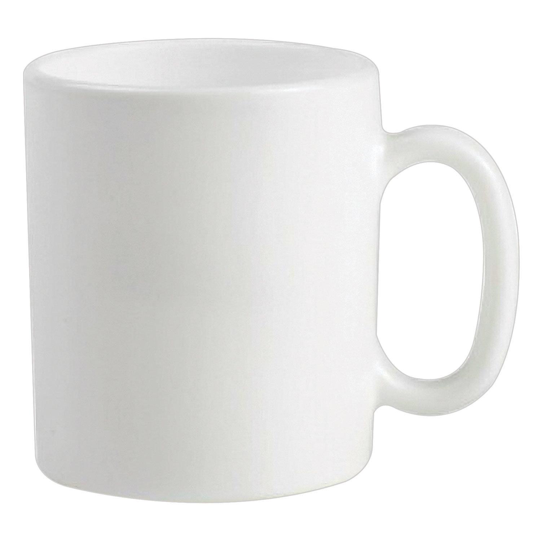 """Набор кружек для чая и кофе, 6 штук, объем 320 мл, белое стекло, """"Essence White"""", LUMINARC, N1230"""