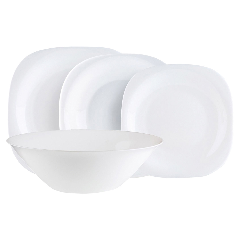 """Набор посуды столовый, 19 предметов, белое стекло, """"Carine"""", LUMINARC, N2185"""