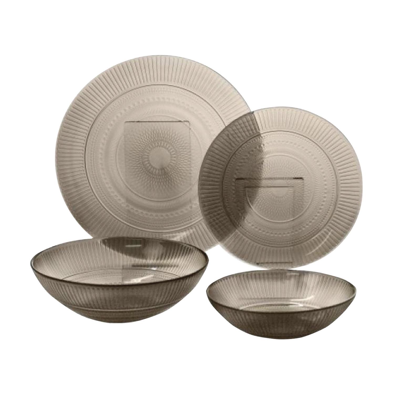 """Набор посуды столовый, 20 предметов, дымчатое стекло, """"Louison Eclipse"""", LUMINARC, N8081"""