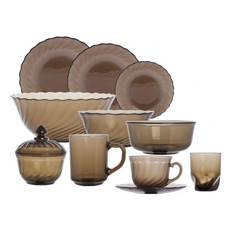"""Набор посуды столовый, 44 предметов, дымчатое стекло, """"Ocean Eclipse"""", LUMINARC, L5110"""