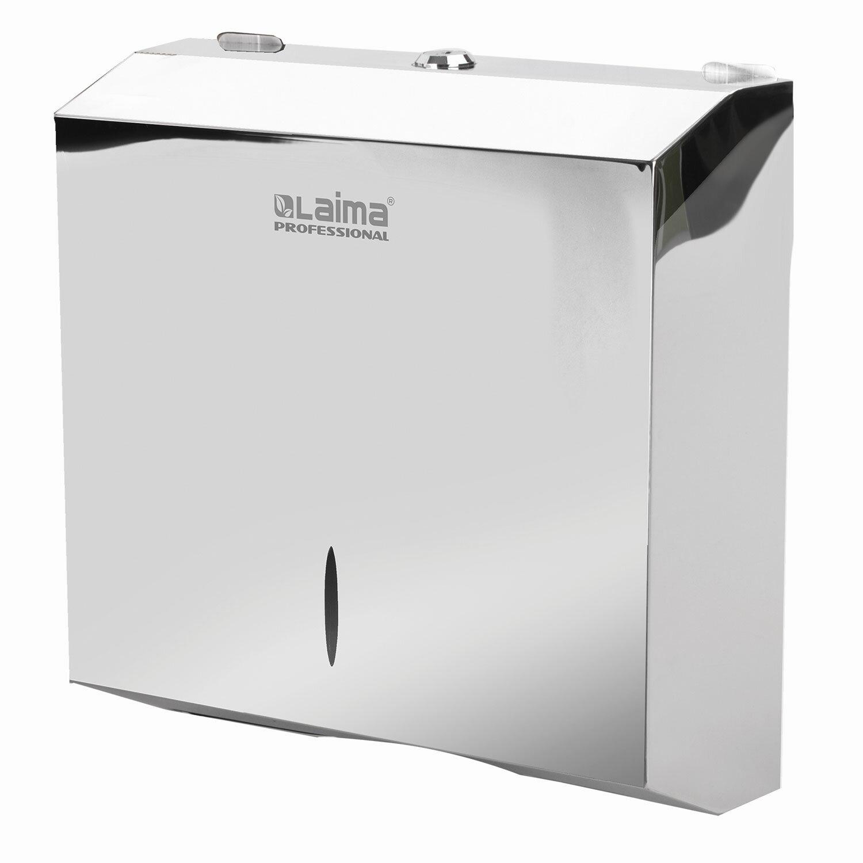Диспенсер для полотенец LAIMA PROFESSIONAL INOX, (Система H2) Z-сложения, нержавеющая сталь, зеркальный, 605695