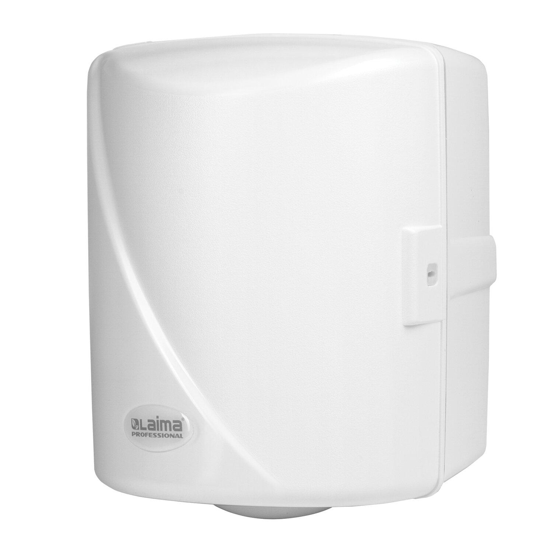 Диспенсер для полотенец с центральной вытяжкой LAIMA PROFESSIONAL ORIGINAL (Система М1/M2), белый, ABS-пластик, 605763