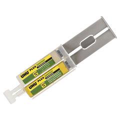 Клей эпоксидный UHU Plus EndFest, 25 г, двухкомпонентный, в шприце, блистер с европодвесом, 45585