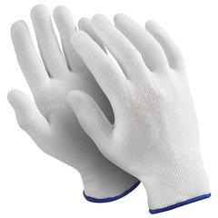 """Перчатки нейлоновые MANIPULA """"Микрон"""", КОМПЛЕКТ 10 пар, размер 10 (XL), белые, TNY-24/MG-101"""