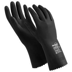 """Перчатки латексные MANIPULA """"КЩС-2"""", ультратонкие, размер 8-8,5 (M), черные, L-U-032/CG-943"""