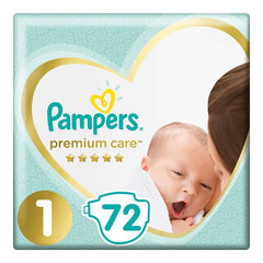 Подгузники 72 шт. PAMPERS (Памперс) Premium Care Newborn, размер 1 (2-5 кг)