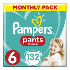 Подгузники-трусики 132 шт. PAMPERS (Памперс) Pants, размер 6 (15+ кг)