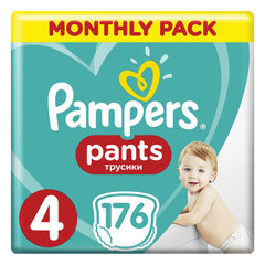 "Подгузники-трусики, 176 шт., PAMPERS (Памперс) ""Pants"", размер 4 (9-15кг)"