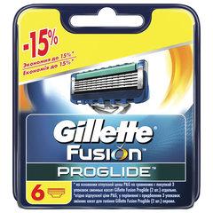 Сменные кассеты для бритья 6 шт. GILLETTE (Жиллет) Fusion ProGlide, для мужчин