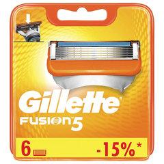 Сменные кассеты для бритья 6 шт. GILLETTE (Жиллет) Fusion, для мужчин