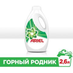 """Средство для стирки жидкое автомат 2,6 л ARIEL (Ариэль) """"Горный родник"""", гель, концентрат"""