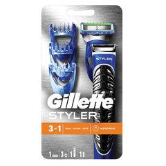 Бритва-стайлер GILLETTE Fusion ProGlide + 1 сменная кассета Power + 3 насадки для моделирования бороды/усов