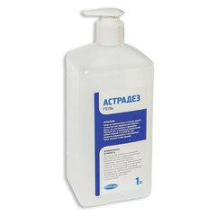 Антисептик-гель для рук спиртосодержащий (60%) с дозатором 1л АСТРАДЕЗ ГЕЛЬ, дезинфицирующий