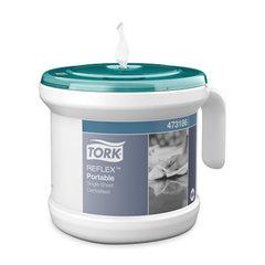 Диспенсер для полотенец переносной, TORK (M4) Reflex, стартовый набор с полотенцем, белый