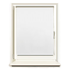 Штора рулонная светонепроницаемая (Блэкаут) BRABIX 100х175 см, белый/серебро, 606015