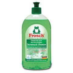 "Средство для мытья посуды 500 мл FROSCH ""Зеленый лимон"" (Германия), ЭКО, пуш-пул"