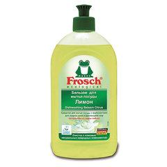 """Средство для мытья посуды 500 мл FROSCH """"Лимон"""" (Германия), бальзам, защита кожи рук, ЭКО, пуш-пул"""