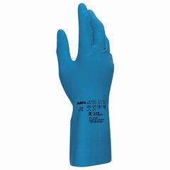 Перчатки латексные MAPA Superfood/Vital 177, внутреннее хлорированное покрытие, размер 9 (L), синие