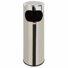 """Урна с пепельницей 18 литров, 580х210 мм, нержавеющая сталь, зеркальная, ЛАЙМА """"Профессионал"""", 606297"""