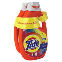 """Средство для стирки жидкое автомат 2,47 + 2,47 л TIDE (Тайд) """"Color"""", гель, концентрат"""