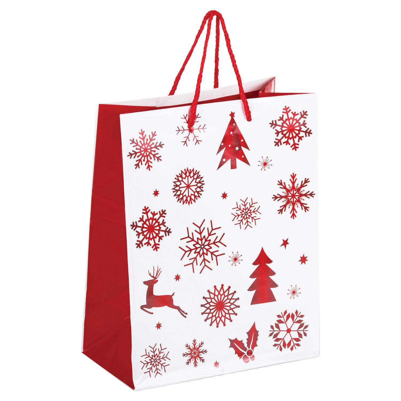 Пакеты подарочные ламинированные новогодние тесьма для штор с шариками