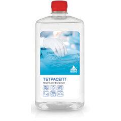 Антисептик для рук и поверхностей спиртосодержащий (15%) 1л НИКА-ТЕТРАСЕПТ, дезинфицирующий, жидкость