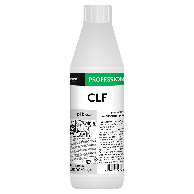 Антисептик для рук и поверхностей спиртосодержащий (64%) 1л PRO-BRITE CLF, жидкость