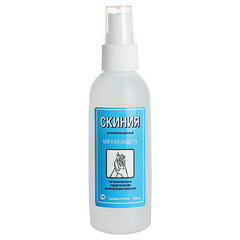 Антисептик для рук и поверхностей спиртосодержащий (58%) с дозатором 100мл СКИНИЯ, дезинфицирующий, жидкость