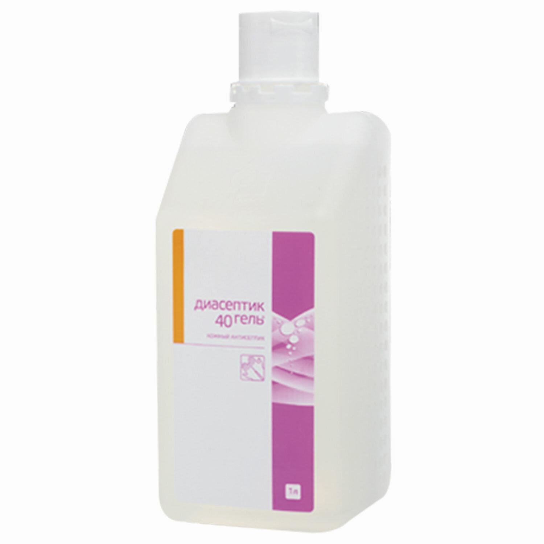 Антисептик-гель для рук спиртосодержащий (40%) 1л ДИАСЕПТИК-40, дезинфицирующий