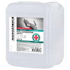 Антисептик-гель для рук спиртосодержащий (спирт 66%-70%) 10 л MANUFACTOR, дезинфицирующий