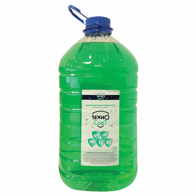 Мыло жидкое дезинфицирующее 5 л ТЕХНОСОФТ
