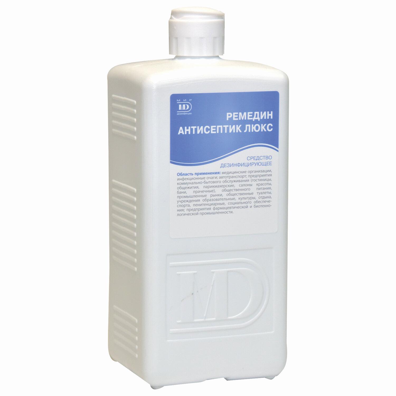 Антисептик для рук и поверхностей спиртосодержащий (63%) 1л РЕМЕДИН ЛЮКС, дезинфицирующий, жидкость