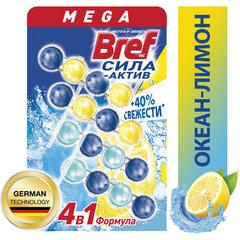 """Блок туалетный подвесной твердый 4 шт. х 50 г BREF (Бреф), Сила-Актив """"Лимонная Свежесть/Океанский бриз"""""""